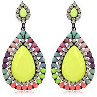 Newest European and USA Fashion Big Drops Resin Earring Elegant Colors Rhinestone Resin Women Earrings Free Shipping ER150