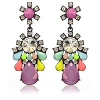 Newest European and USA Fashion Big Drops Pendant Earring High Quality Rhinestone Resin Earrings For Women Free Shipping ER159