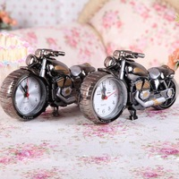 Classic Cool Motorcycle Alarm Clock  Desk Clock Stylish Model Home Children Kids Gift Free Shipping