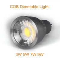 100pcs/lot COB LED lights 5W 7W 9W downlight lighting 85-265V Led Lamp GU10 Led spot Light Spotlight led bulb black friday