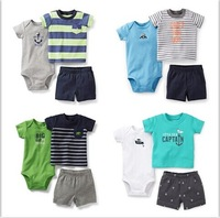 Retail,Caters Baby Boys Set, Carters Baby Boy Bodysuits+pants 3 pcs Clothing Set  ,Free Shipping,IN STOCK
