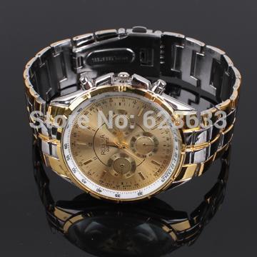 2015 new ROSRA fashion men s watch gold plated quartz sports watches men luxury brand jewelry
