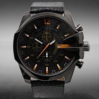new fashion luxury brand DZ 4291 sports watches, men's quartz watches, military watches(black)Calendar watch+free shipping
