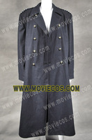 DOCTOR WHO TORCHWOOD CAPTAIN JACK HARKNESS TRENCH COAT-Black Color