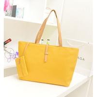 Fashion 2014 women commuter belt buckle big bag wild colorful shoulder bag women leather handbags shopping handbag Free shipping