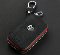 Genuine Leather Remote Control Bag For VW Volkswagen Tiguan Polo Golf Sagitar cc Scirocco PASSAT b5 b6 EOS Jetta key Bag case