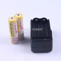 freeship 2pcs ultrafire battery 18650 5000mAh 3.7V Rechargeable 18650 Battery +1pcs travel wall charger UK AU EU US plug