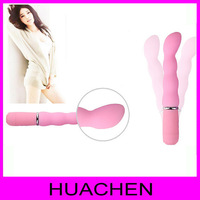 6330   Silicone Personal Body Vibrator Massager Power Magic Wand G-spot Sex Product Adult Toy for Women