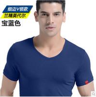 New summer 2014 men clothing fitness man t shirt sportswear fashion sport t shirts mens tshirt tops & tees solid v neck t shirts