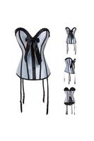2014 Hot Sale Plus Size Sleepwear Sexy Women Corset Lace Up Back Bow Gothic Bustier Lingerie Overbust Corselet Dresses S-6XL