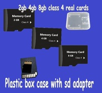 2015 new wholesale 100pcs/lot memory cards   2gb 4gb 8gb real cheap price with adapter pack  by case package