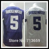 American Football Jerseys 2014 Draft Minnesota #5 Teddy Bridgewater Sports Jersey,Embroidery Logo,Free Shipping,Accept Mix Order
