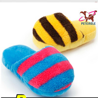 More than 5pcs Wholesale 2014 New Six Colors Pet Dog Toy P938TT Slipper Products For Cats