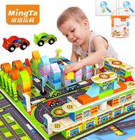 2014 New Baby Building Blocks Speedway Unisex Wooden toy bricks Intellectual Enlightenment Children Toys 168Pcs/Lot