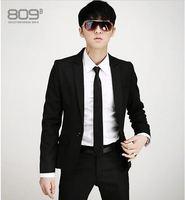 Free Shipping 2014 Spring and Autumn high grade fabrics authentic Korean men Slim suit wedding dress gentleman dress suit
