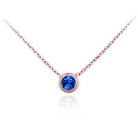Hot Selling 18K Rose Gold Plated / Platinum Plated Glittering Austrian Crystal Round Pendant Necklace For Women NC006