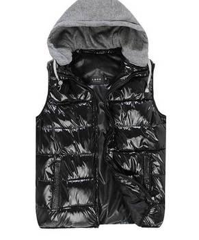 2014 Winter Dress Big Mens Закрытый Down Жилет. Man Рукавless Закрытый Jackets Хлопок ...