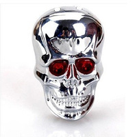 Mountain Bike Skull Parallel laser Taillight Waterproof Gleamy Riding Safety Equipment Free Shipping