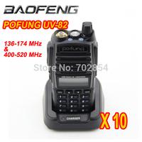 10pcs/lot baofeng new Walkie Talkie dual band 136-174MHZ&400-520MHZ 5W 128CH Two Way Radio POFUNG UV-82