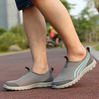 Summer 2014 New Arrival men sports shoes Breathable Net Surface ultra light Men sneakers Outdoor shoes Free Shipping