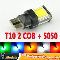 2pcs Newest pure high power cob led T10 cambus Error Free T10 194 168 w5w car led lamp bulb socket T10 led cambus #YNB77