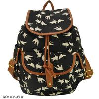 2014 new canvas bag printing backpacks women backpacks top selling