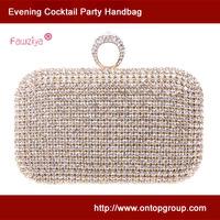 Knuckle ring high class crystal wedding party clutch women fashion bag evening party handbag