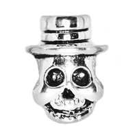 New 2014 Fashion Jewelry 925 Sterling Silver Jewelry European DIY Bracelet Skull Charms Beads For Women Wholesale Free Shipping