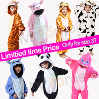 Boys Girls Onesie Kigurumi Winter Fancy Dress Pajamas Animal Pyjamas Anime Helloween Cosplay Costumes Sleepwears For Kid Size 3T