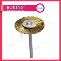 2014 FREE SHIPPING  100pcs/box Jewelry Wire Brush Brass Wire Wheel Brush With 2.35mm shank Polishing brush