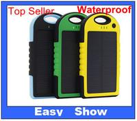 Out Door Portable Solar Charger 5000mAH Waterproof Dustproof Portanble Power Bank Hot Sale