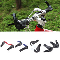 New Pair Rubber Mountain Bike Bicycle Handlebar Grips MTB Ergonomic Ergon Bar End Blue/Red/White/Black