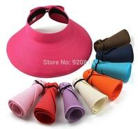 Beach cap sunbonnet visor strawhat female summer sunscreen folding big sun hat
