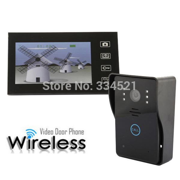 """7"""" Wireless Video Intercom Door Phone Doorbell Intercom System Touch Panel Door LocK Access Control Home"""