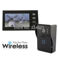 """7"""" Wireless Video Intercom Door Phone Doorbell Intercom System Touch Panel Door LocK Access Control Home Security IR Camera"""