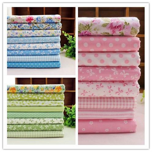 3 Sätze/lot 50*40cm rosa grün blau tilda puppe baumwolle patchwork stoff nähzeug gesetzt tuch heimtextilien quilts für handwerk