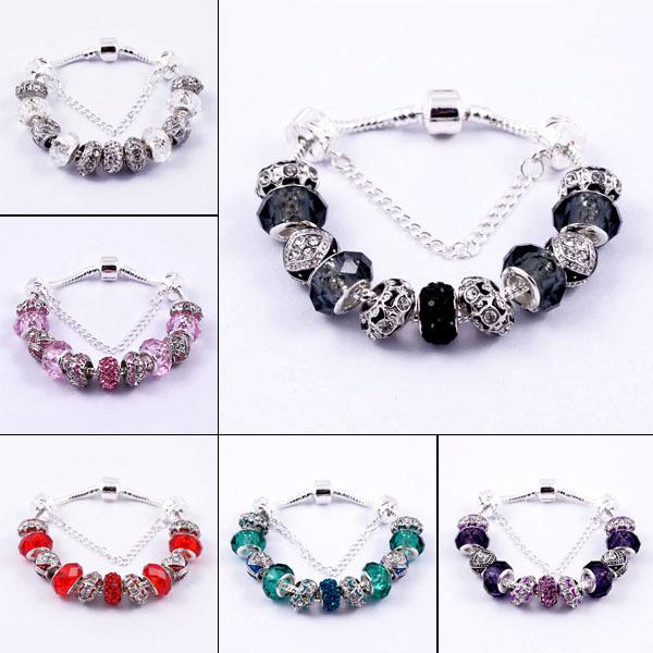 Glass Charm Bracelets Glass European Charm Beads