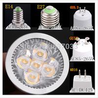 100% quality E27 E14 12W CREE non Dimmable 5*3W 4*3W LED Spot light lamp High Power Led Bulb Warm Cool White AC110V 220 230 240V
