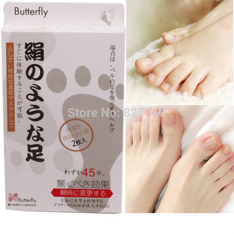 2pairs=4pcs Foot Vinegar peeling renewal remove dead skin Cuticles Heel smooth exfoliating feet mask care sticker Free Shipping!(China (Mainland))