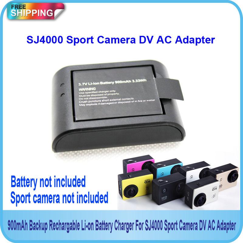 Free Shipping!!SJ4000 Sport Camera 900mAh Backup Rechargable Li-on Battery Charger For DV AC Adapter(China (Mainland))
