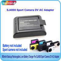 Free Shipping!!SJ4000 Sport Camera 900mAh Backup Rechargable Li-on Battery Charger For DV AC Adapter