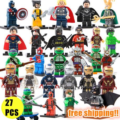 27pcs Building Blocks Marvel Super Heroes Avengers Hulk Deadpool Iron Man Action Figures minifigures toys Compatible With Lego(China (Mainland))