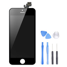 Original LCD screen for iPhone 5 Display Mobile Phone LCDs Supplier OEM Gift with opening tool kit