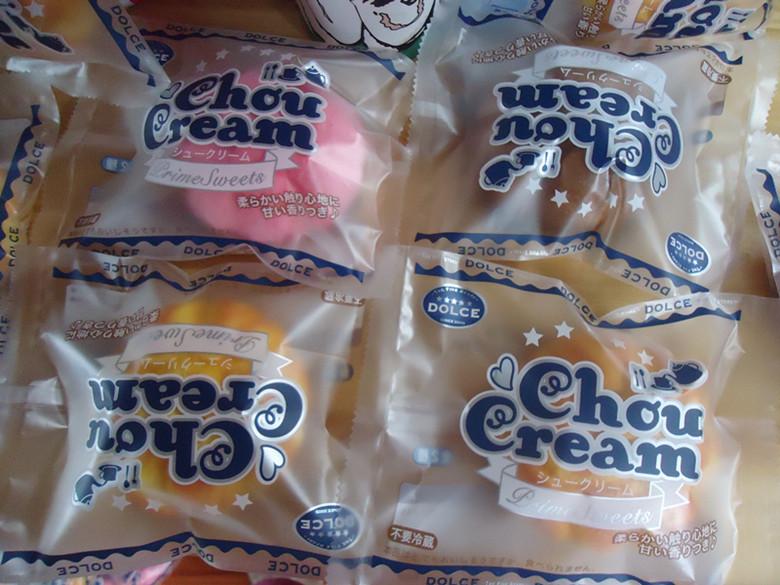 10pcs/lots 9cm chou cream squishy in original packaging ,