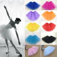 Wholesale/retail 3 Layer Organza Womens Girls Pettiskirt Tutu Adult Ballet Skirt Dance Party