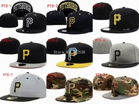 Sporting P hats one pc cap Pittsburgh Pirates fitted hats baseball caps free shipping PIT118