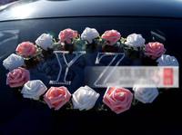Artificial flower wreaths car decoration flower plate wedding car flower decoration A33