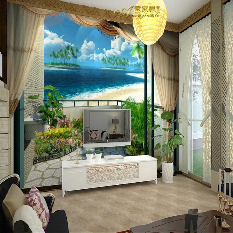 Mural 3d three dimensional wallpaper sofa tv background for 3d mural painting tutorial