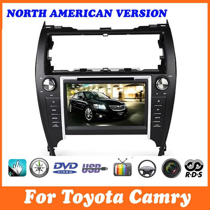 Auto dvd gps für toyota camry 2012, Nordamerika Version, für usa, kanada, radio, tv, bluetooth, kostenlose karte