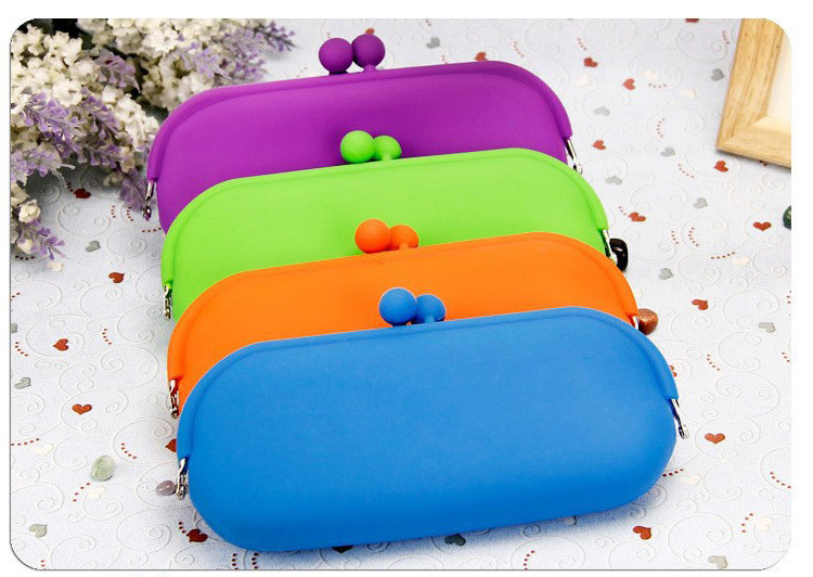 Candy Color phone bag silicone coin purse large change purse coin wallet women messenger bags free shipping 7998(China (Mainland))